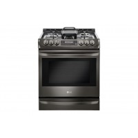 LG Electronics Black Stainless Steel Series 6.3 cu. ft. Gas Slide-in Range with ProBake Convection® and EasyClean®