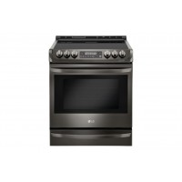 LG Electronics Black Stainless Steel Series 6.3 cu. ft. Electric Slide-in Range with ProBake Convection® and EasyClean®