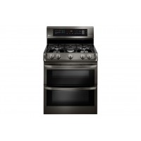 LG Electronics 6.9 cu. ft. Gas Double Oven Range with ProBake Convection®, EasyClean® and Gliding Rack