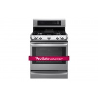 LG Electronics 6.3 cu. ft. Gas Single Oven Range with ProBake Convection®, EasyClean® and Warming Drawer
