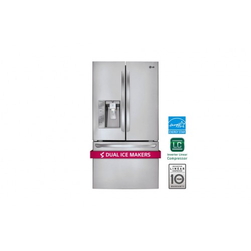 ice ft sales cu at dual refrigerator lg maker door steel french makers whirlpool stainless black with pacific