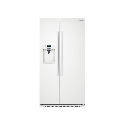 Samsung - 22.3 Cu. Ft. Counter-Depth Side-by-Side Refrigerator with Thru-the-Door Ice and Water - White