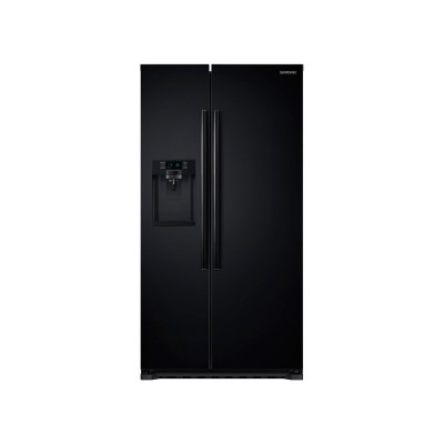 Samsung - 22.3 Cu. Ft. Counter-Depth Side-by-Side Refrigerator with Thru-the-Door Ice and Water - Black